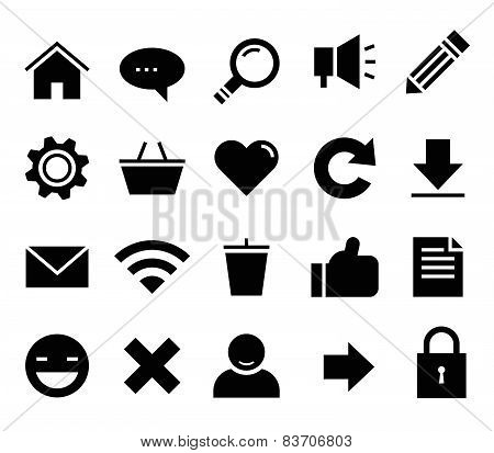 SEO and internet vector icon set Web, website