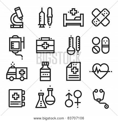 Science and Medical icons, stock vector