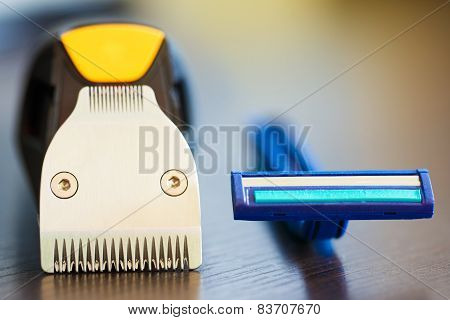 Beard Trimmer Against Razor