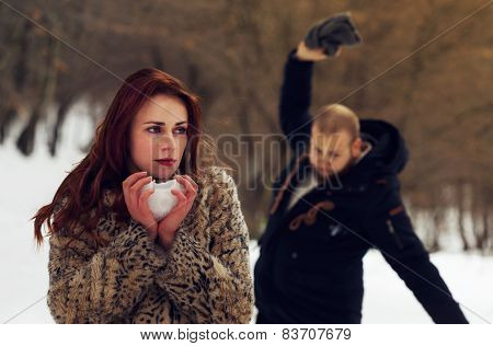 Young Lovers Fighting