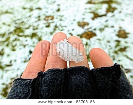 snow in my hand