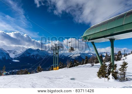 Skiing At Lake Louise In Canada