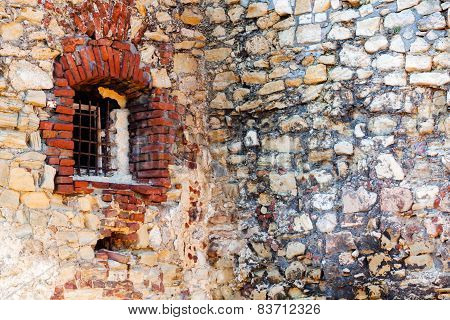 Old Stone Wall With Window