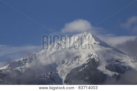 Winter Mountain Landscape In Sunny Day