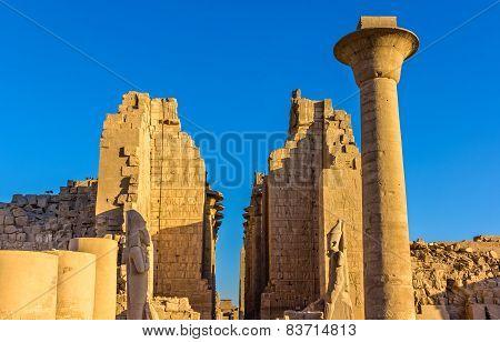 Entrance To The Karnak Temple - Luxor, Egypt