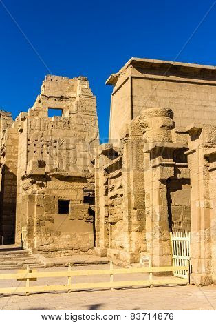 The Mortuary Temple Of Ramses Iii Near Luxor In Egypt