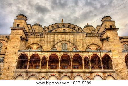 Facade Of The Sultan Ahmet Mosque In Istanbul - Turkey