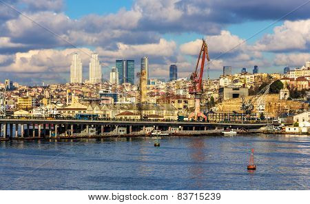 View Of Istanbul And The Ataturk Bridge - Turkey