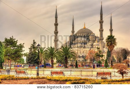 Sultan Ahmet Mosque (blue Mosque) In Istanbul - Turkey