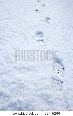 Trail of Foot Prints