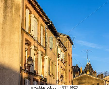 Buildings In The Historic Center Of Luneville - Lorraine, France
