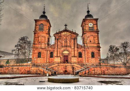 Saint-die Cathedral In Saint-die-des-vosges - Lorraine, France