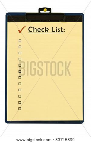 Checklist On Clipboard