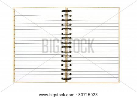 Blank Ruled Journal Isolated