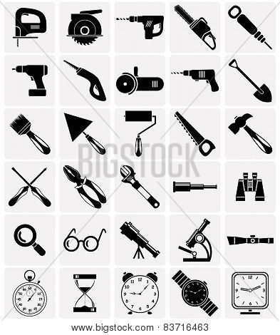 Icons Of Tools And Devices