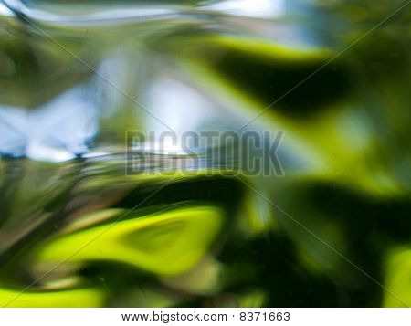 Abstract Of The View Out Of Glass Block Window