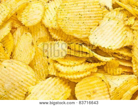 Golden Corrugated Potato Chips