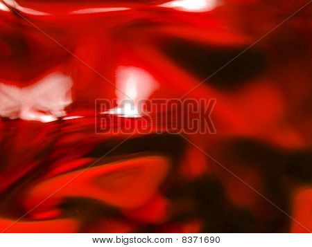 Abstract Of A Red-tone Glass Block Window