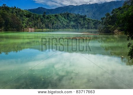 Hills Reflected In Telaga Warna