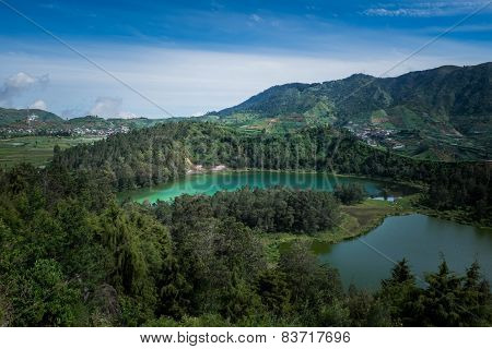 Hilltop View Of Telaga Warna