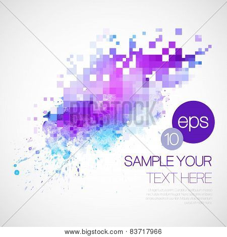 Modern vector background with watercolor blot