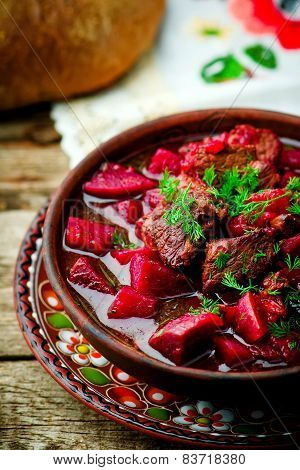 Braised Beef With Beet.