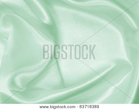 Smooth Elegant Green Silk As Wedding Background
