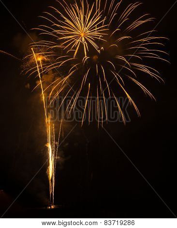 Fireworks In Patras, Peloponnese, Greece