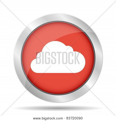 Cloud Icon, Vector Illustration.