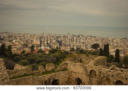 Cityscape At Patras, Peloponnese, Greece