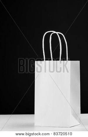 White Paper Bag With Handles