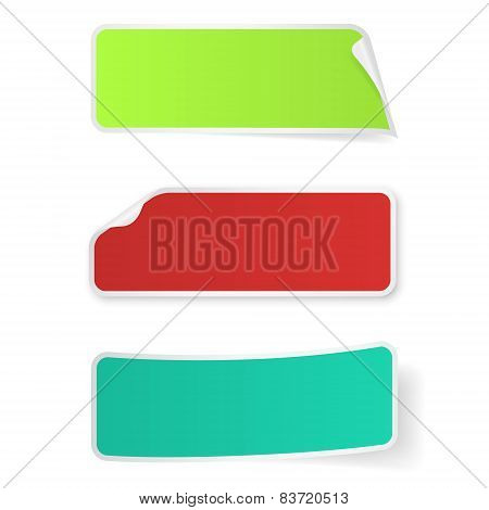 Stickers Label Isolated On White Background