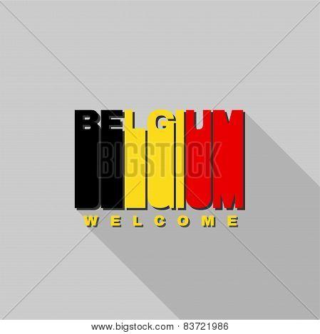 Belgium Flag Typography, T-shirt Graphics