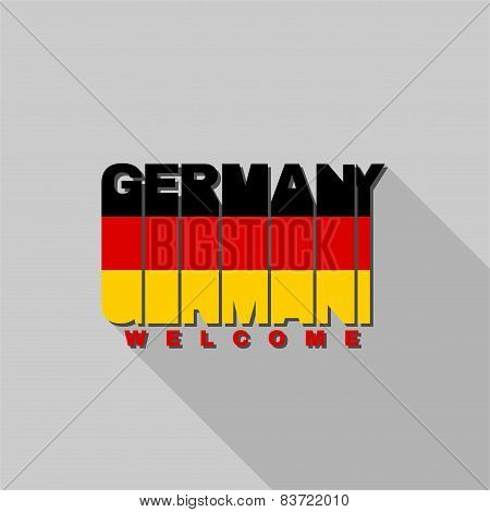 Germany Flag Typography, T-shirt Graphics