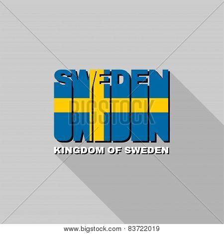 Sweden Flag Typography, T-shirt Graphics