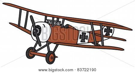 Vintage germany biplane
