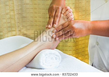 Foot Massage, Spa Foot Oil Treatment.