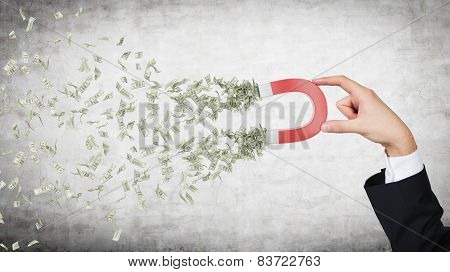 Hand Attracts Money