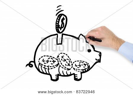 Hand Drawing Moneybox