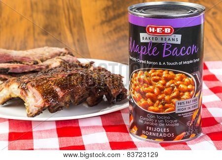Bacon Flavored Beans With Bbq