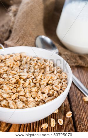 Bowl With Puffed Wheat