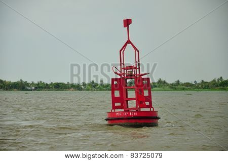 Red Warning Buoy