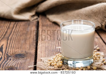 Soy Milk With Some Seeds