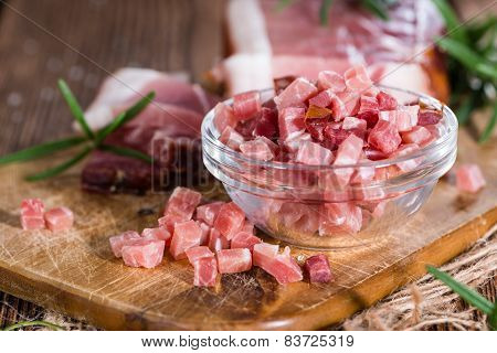 Portion Of Diced Ham