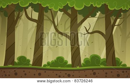 Forest Cartoon Background
