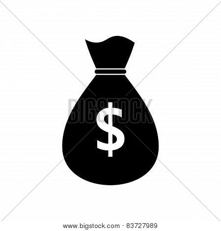 Icon Of Money Bag With A Dollar Sign