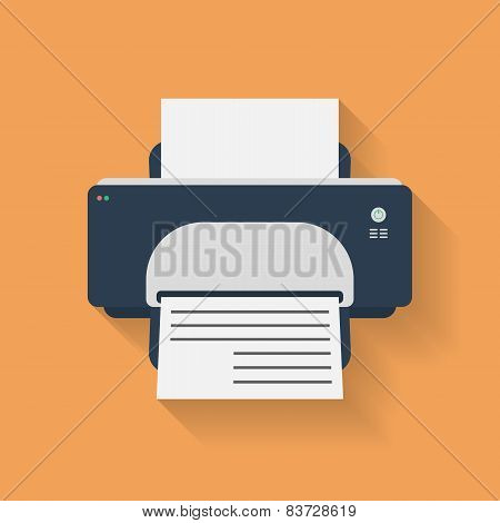 Icon of Printer. Flat style