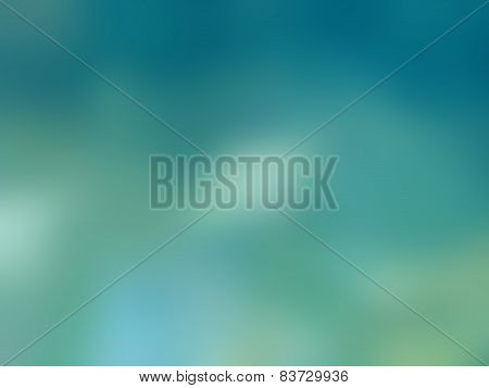 Natural Bright Blurred Background Of Blue Ocean.
