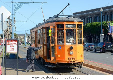 F-line Antique streetcar, San Francisco, USA