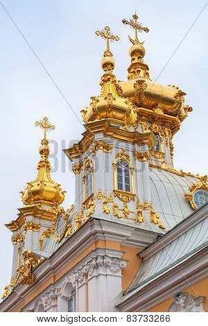 Church Of St Peter And Paul In Peterhof, Petersburg
